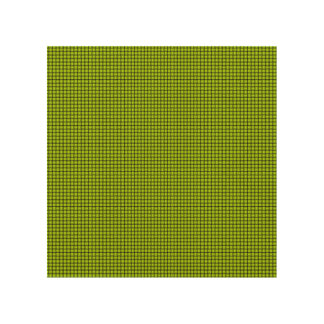 Weave - Fluorescent Yellow Wood Wall Art