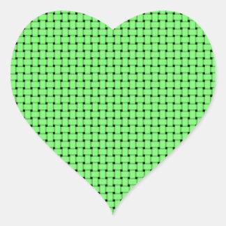 Weave - Green Heart Sticker
