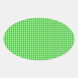 Weave - Green Oval Sticker
