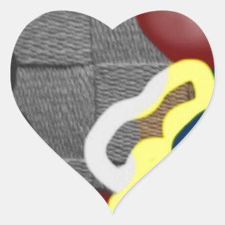 Weave Heart Sticker