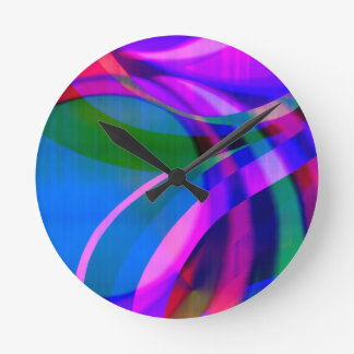 Weave in the Breeze Round Clock