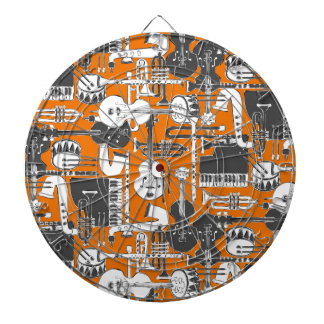 weave jazz orange dartboard