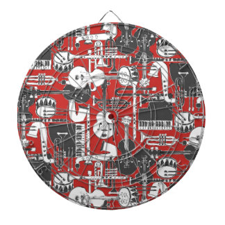 weave jazz red dartboard