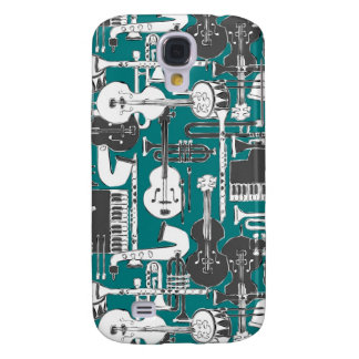 weave jazz teal samsung galaxy s4 cover