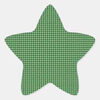 Weave - Light Green Star Sticker