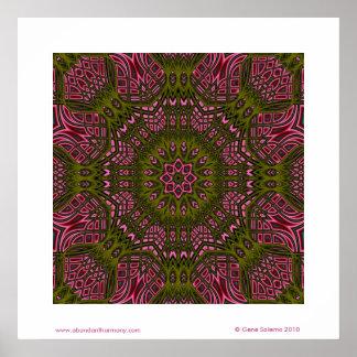 Weave Mandala Poster