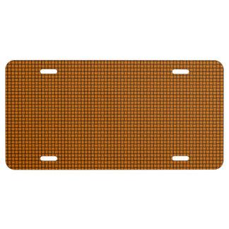 Weave - Orange License Plate