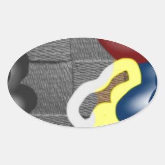 Weave Oval Sticker