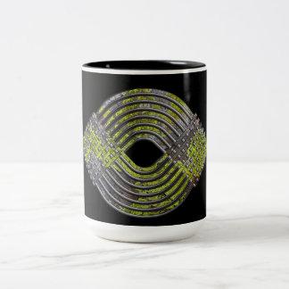 Weave Pattern Two-Tone Coffee Mug