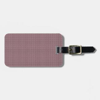 Weave - Pink Bag Tag