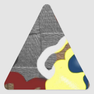 Weave Triangle Sticker