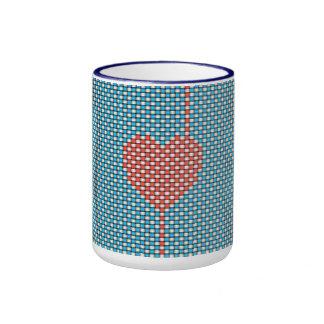 Weaved Heart Mugs