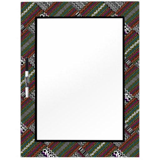 Weaved Zig-Zag Stripe Dot Dry Erase Whiteboard