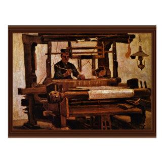 Weaver At The Loom By Vincent Van Gogh Postcard