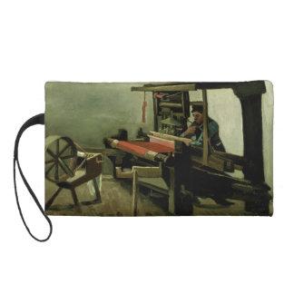Weaver by Vincent Van Gogh Wristlet Purse