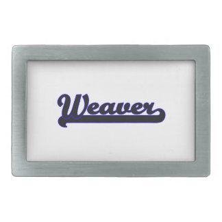 Weaver Classic Job Design Rectangular Belt Buckle