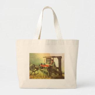 Weaver Facing Left Spinning Wheel Vincent van Gogh Jumbo Tote Bag