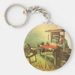 Weaver Facing Left Spinning Wheel Vincent van Gogh Keychains