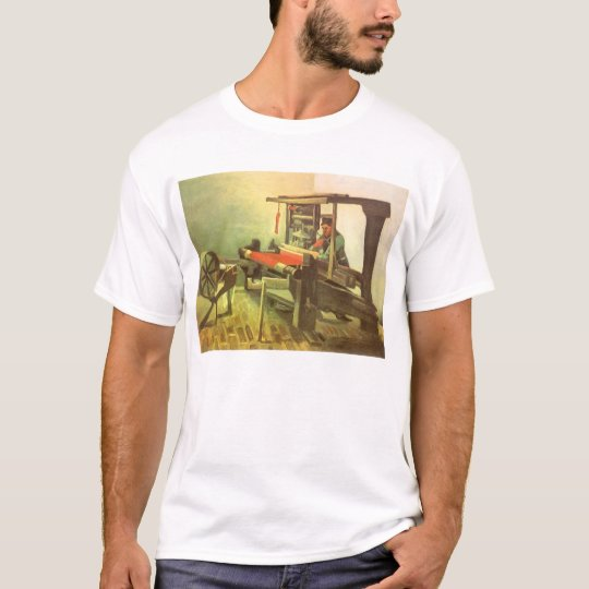 Weaver Facing Left Spinning Wheel Vincent van Gogh T-Shirt