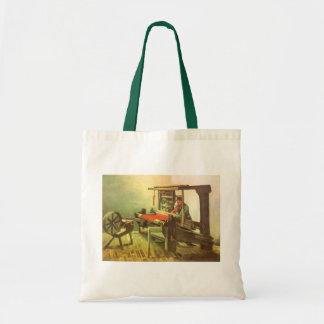 Weaver Facing Left Spinning Wheel Vincent van Gogh Tote Bag