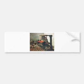 Weaver Facing Left - Vincent Van Gogh Bumper Sticker