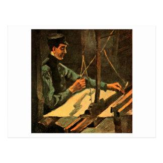 Weaver Facing Right Half-Figure Van Gogh Fine Art Postcard