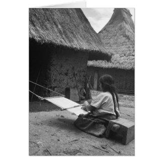 Weaver - Magdalenas, Chiapas, Mexico Card