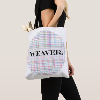 """""""Weaver."""" with woven texture background Tote Bag"""