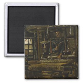 Weaver's Cottage by Vincent Van Gogh Magnets
