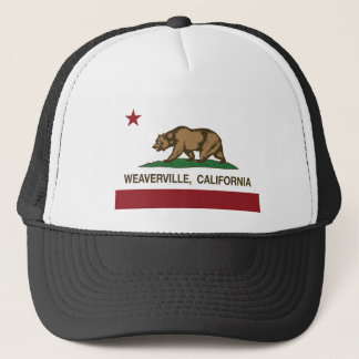 weaverville california state flag trucker hat