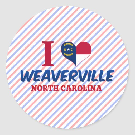 Weaverville, North Carolina Classic Round Sticker