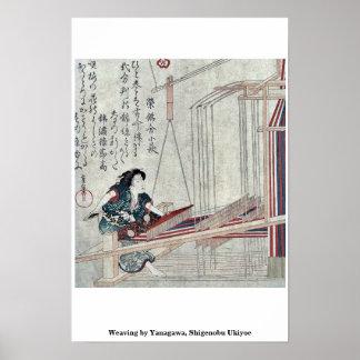Weaving by Yanagawa, Shigenobu Ukiyoe Posters