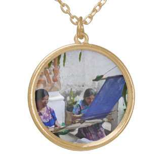 Weaving in Antigua drybrush Gold Plated Necklace