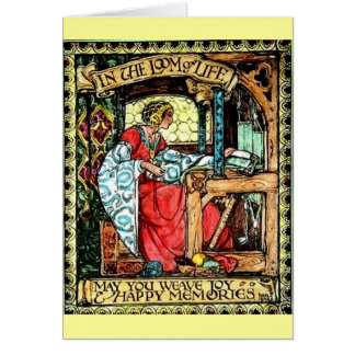Weaving Woman Card