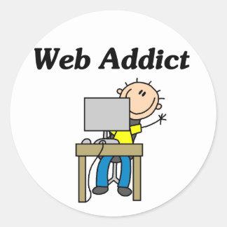 Web Addict Classic Round Sticker