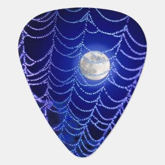 Web and Moon Guitar Pick