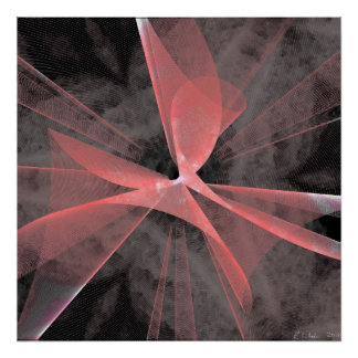 Web asimétrico rojo póster