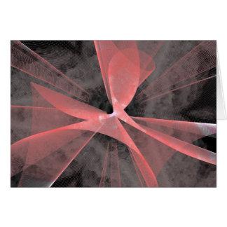 Web asimétrico rojo tarjetón
