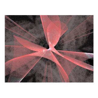 Web asimétrico rojo tarjetas postales