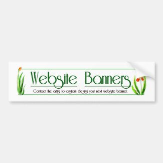 Web Banner Designs by Delynn Addams Bumper Sticker