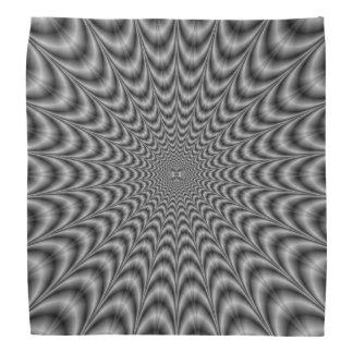 Web blanco y negro del pañuelo bandana