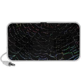 Web brillante del rocío colorido en diseño negro d altavoz de viajar