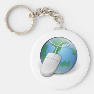Web browser llavero redondo tipo pin