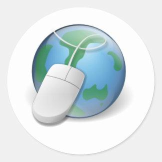 Web browser pegatina redonda
