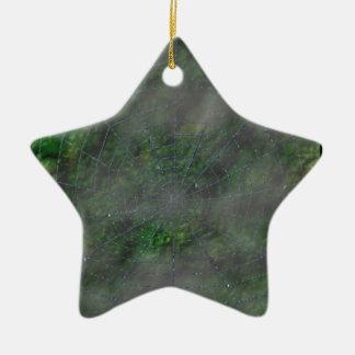 Web brumoso adorno de cerámica en forma de estrella