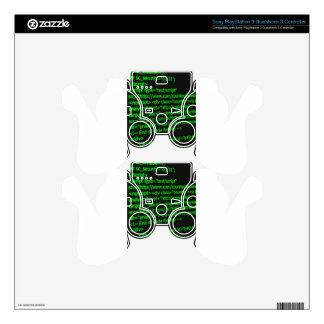 Web Code Decal For PS3 Controller
