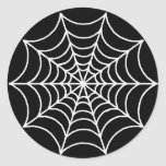 Web de araña adaptable pegatina redonda