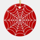 Web de araña adaptables adorno redondo de cerámica