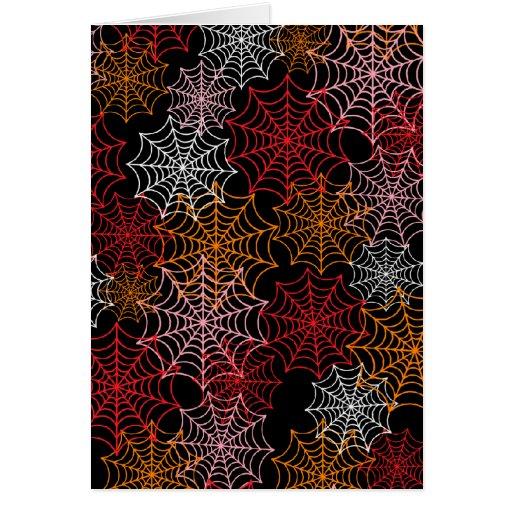 Web de araña adaptables tarjeta de felicitación