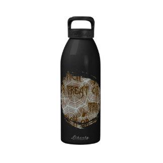 Web de araña botella de beber
